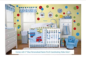 Delicieux Dr. Seuss One Fish Two Fish 10 Pc Nursery Bedding Ensemble Set PLUS  Coordinating Polka