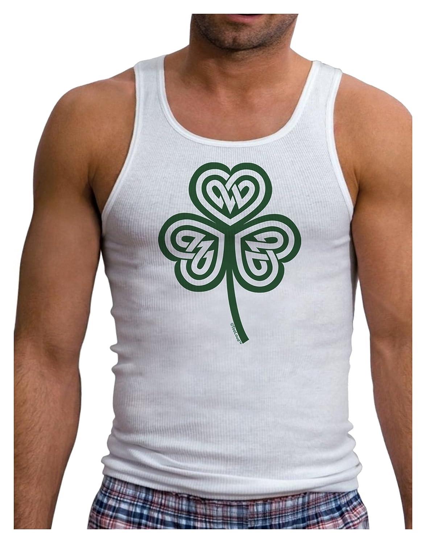 TooLoud Celtic Knot Irish Shamrock Mens Ribbed Tank Top