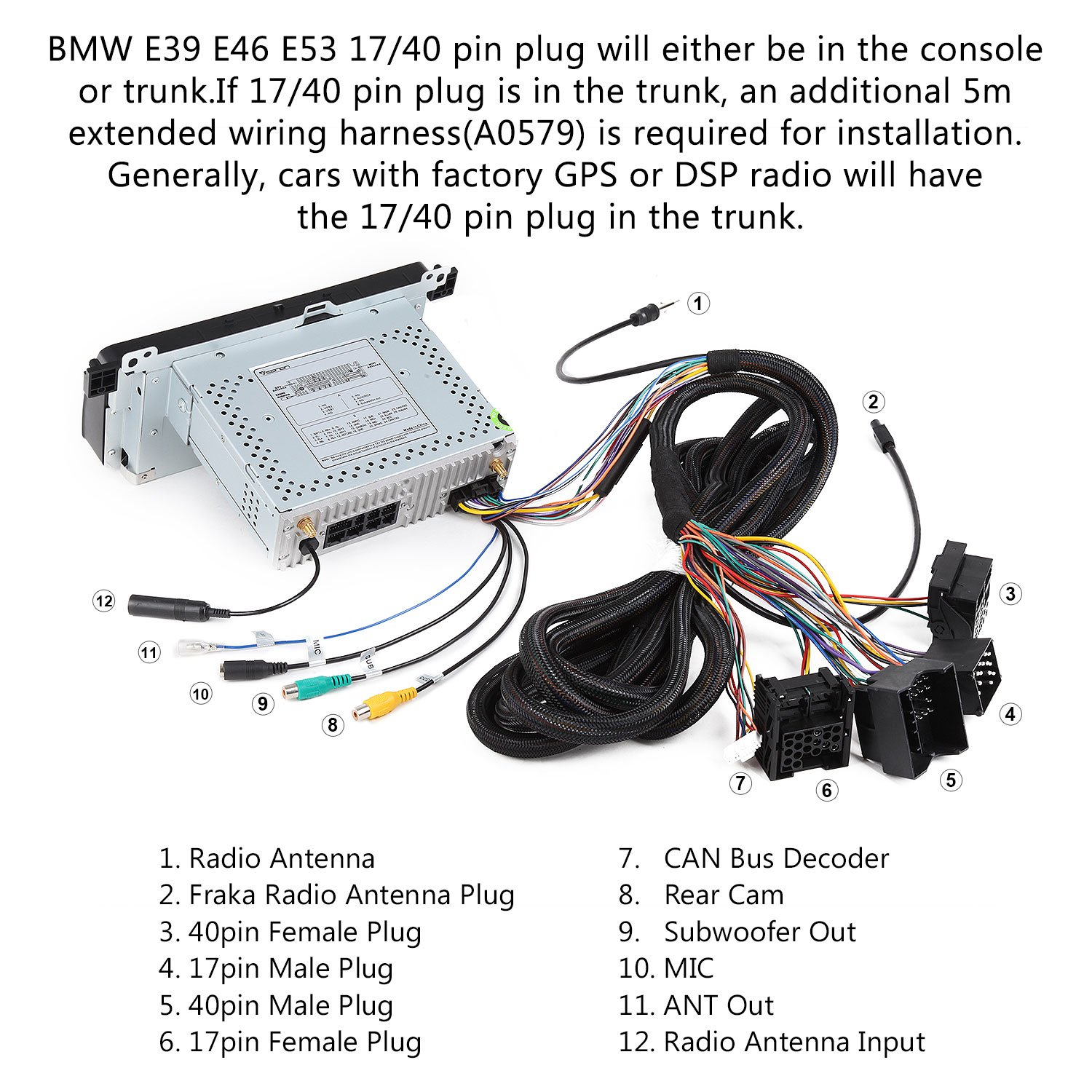 Bmw E46 Trunk Wiring Harness Amazon from images-na.ssl-images-amazon.com