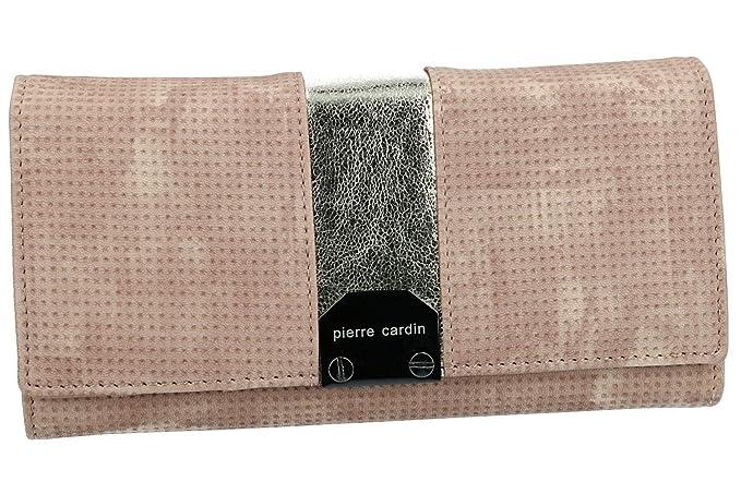 Cartera mujer PIERRE CARDIN rosa fuelle con abertura a boton VA2343: Amazon.es: Ropa y accesorios