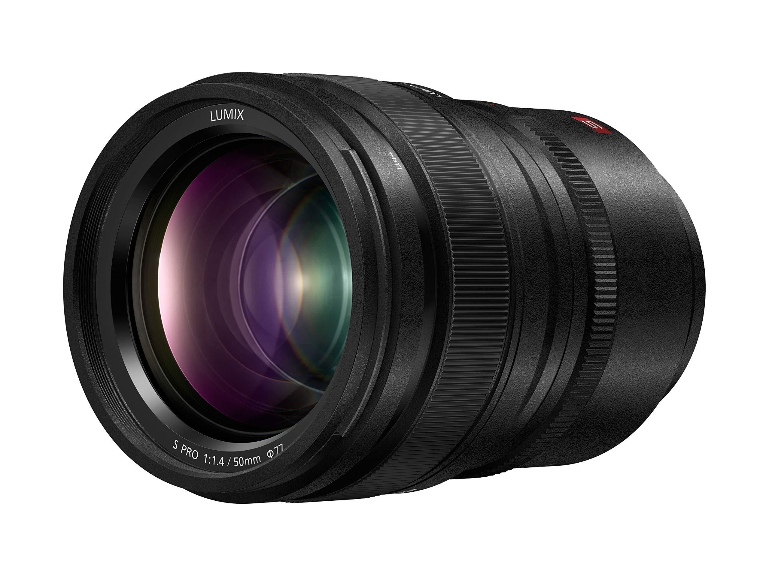 Panasonic LUMIX S PRO 50mm F1.4 Lens, Full-Frame L Mount, Leica Certified, Dust/Splash/Freeze-Resistant for Panasonic LUMIX S Series Mirrorless Cameras - S-X50 (USA) by Panasonic