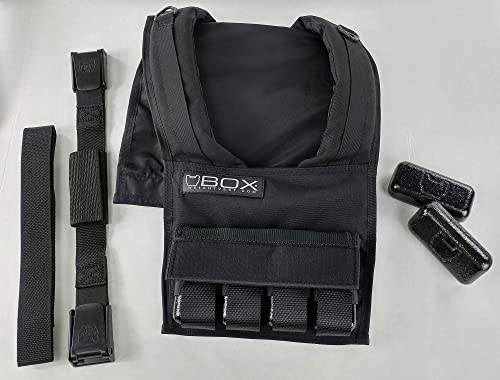Box 20 Lb Super Short Weight Vest – Made in USA – Built for Gym Weight Loss Training