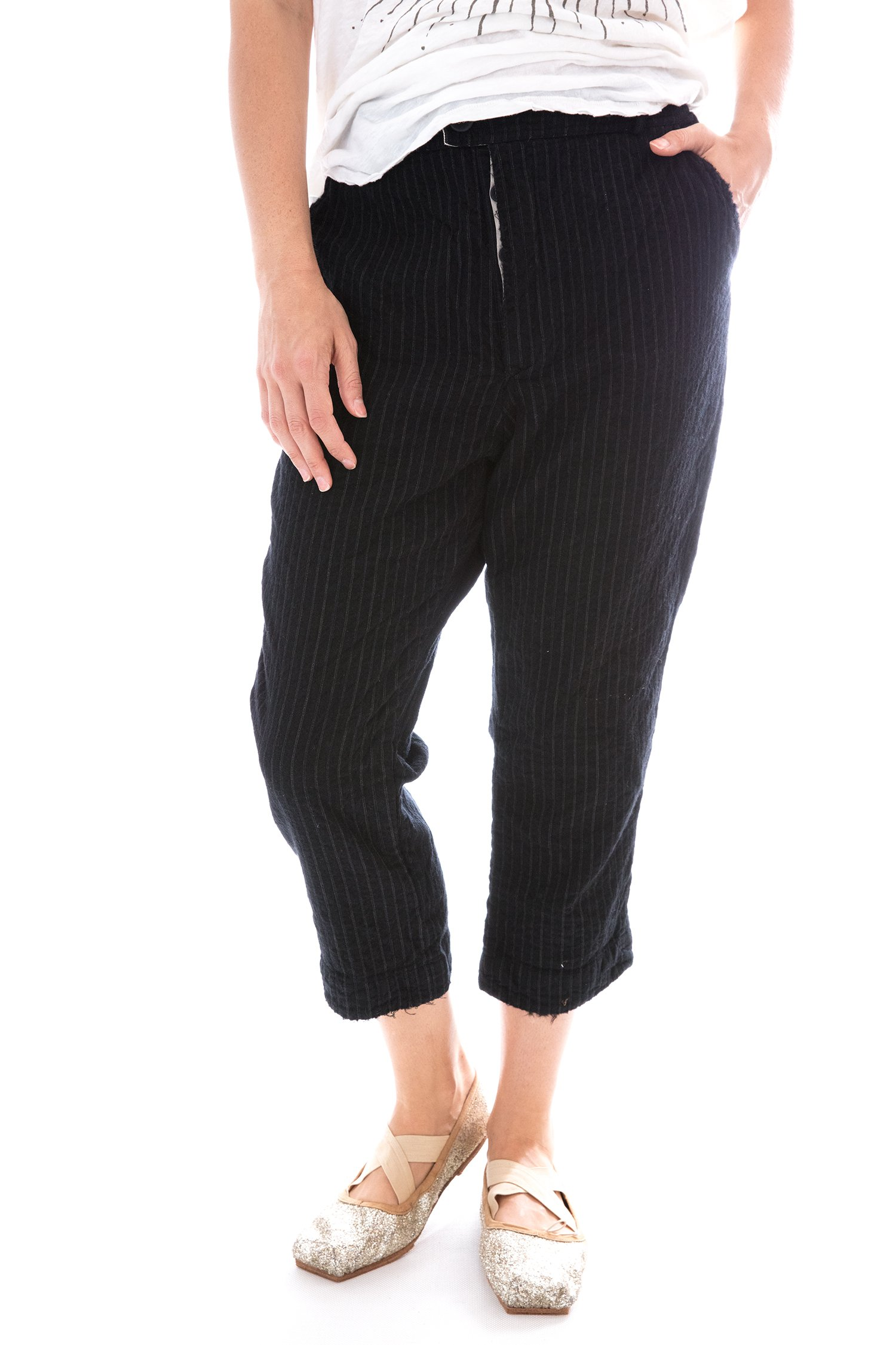 Fine Wool Violet Pants with Cotton Lining