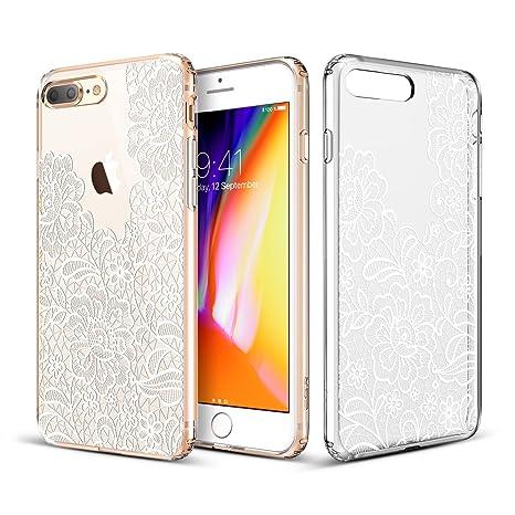 coque silicone iphone 7 plus fleur dentelle