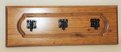 Rústico madera maciza de Repurposed montado en la pared ...