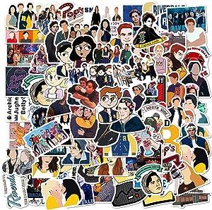 100PCS Riverdal_e Stickers TV Show Stickers Waterproof Vinyl Stickers Water Bottle Skateboard Stickers for Kids Teens Boys Adults Hydroflasks Laptop Motorcycle