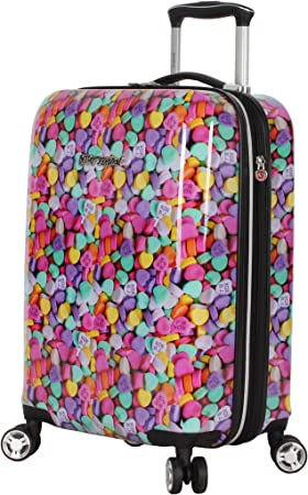 Fun Fashion Rose Skull Traveler Lightweight Rotating Luggage Protector Case Can Carry With You Can Expand Travel Bag Trolley Rolling Luggage Protector Case