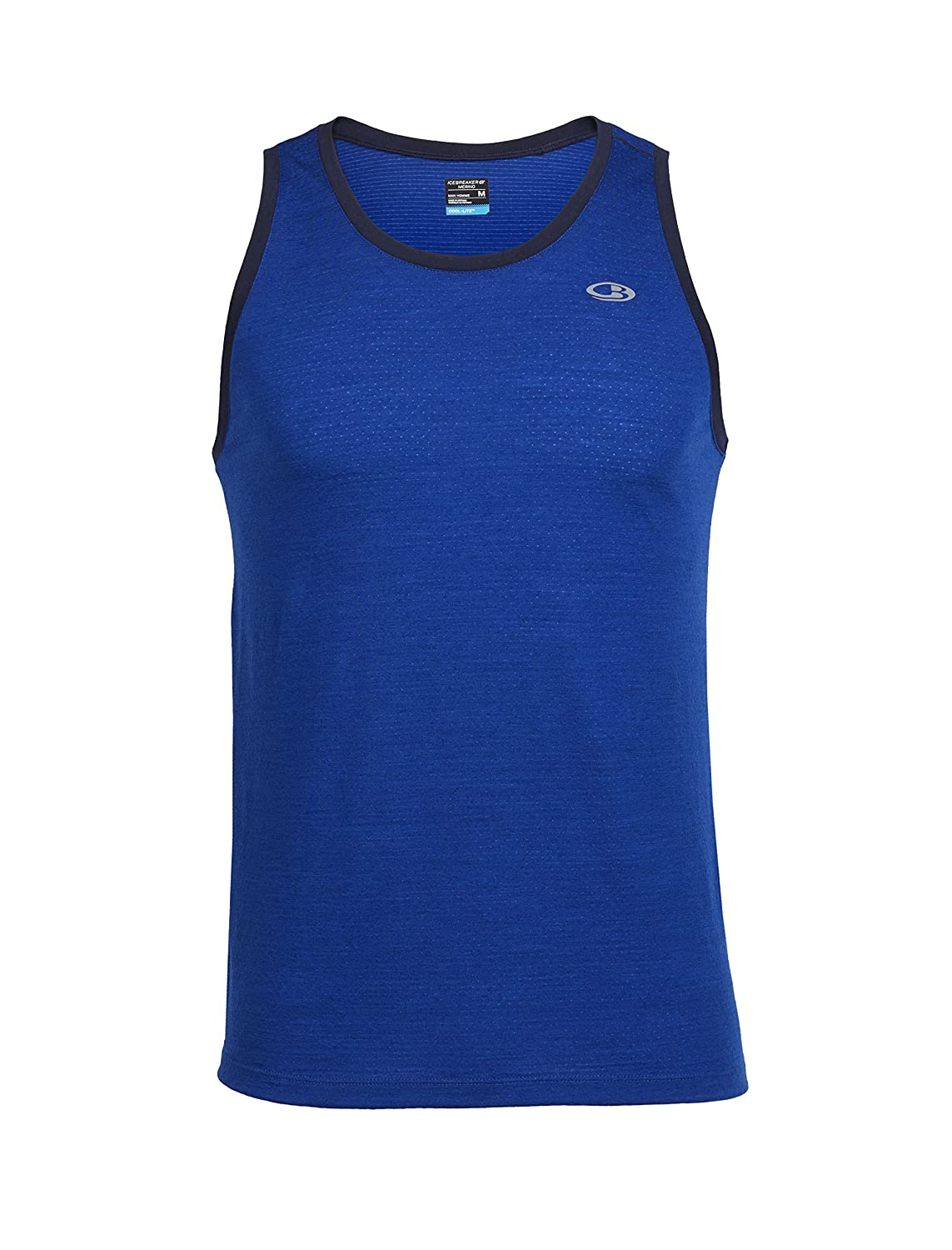 Moisture Wicking Merino Summer Blend Cobalt//Admiral Large Icebreaker USA 103622 Icebreaker Strike Lite Tank Breathable