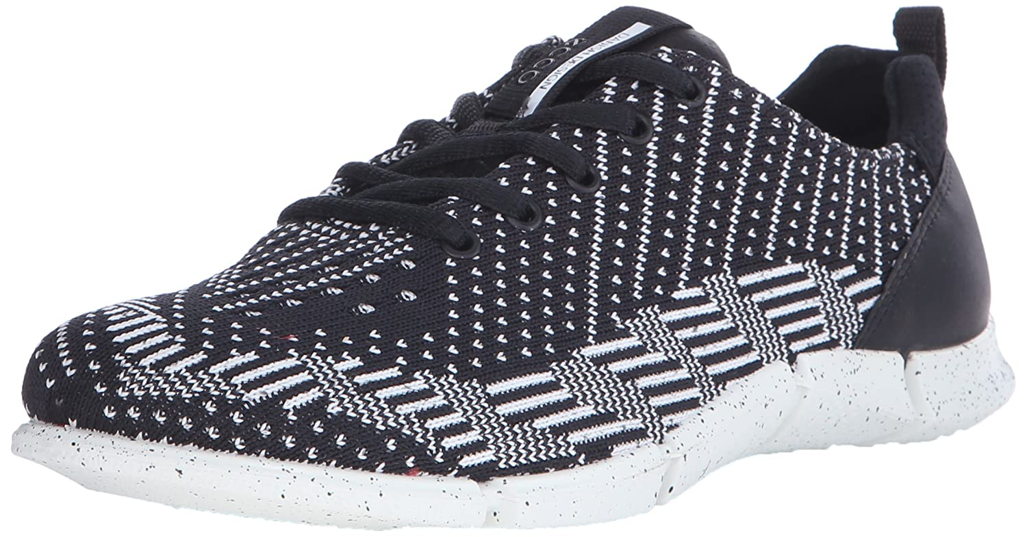 Black White Ecco Women's Intrinsic Karma Tie Sporty Lifestyle