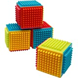 Playkidz Super Durable 24 Pcs Stacking Bristle Blocks Building Set, For Boys & Girls, Educational Fun, Great for Toddlers and Children