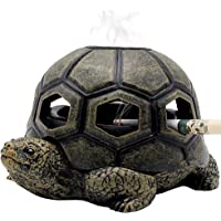 Cigarette Ashtray with Lid Creative Cigar Ash Tray Cute Resin Ash Holder for Indoor Outdoor Home Office and Car (Turtle)