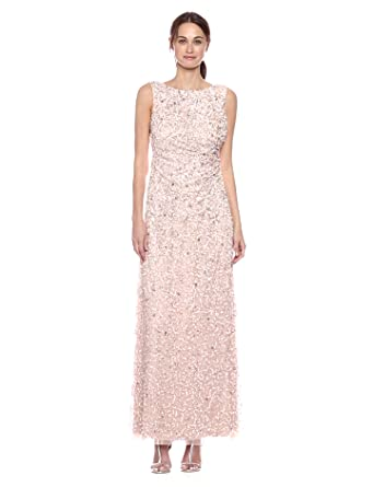 Papell At Cowl Adrianna Gown Women's Back Beaded Sleevless Long E2IDeWH9Y
