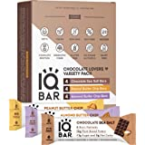 IQBAR Brain and Body Keto Protein Bars - Chocolate Lovers Variety Keto Bars - 12-Count Energy Bars - Low Carb Protein Bars -