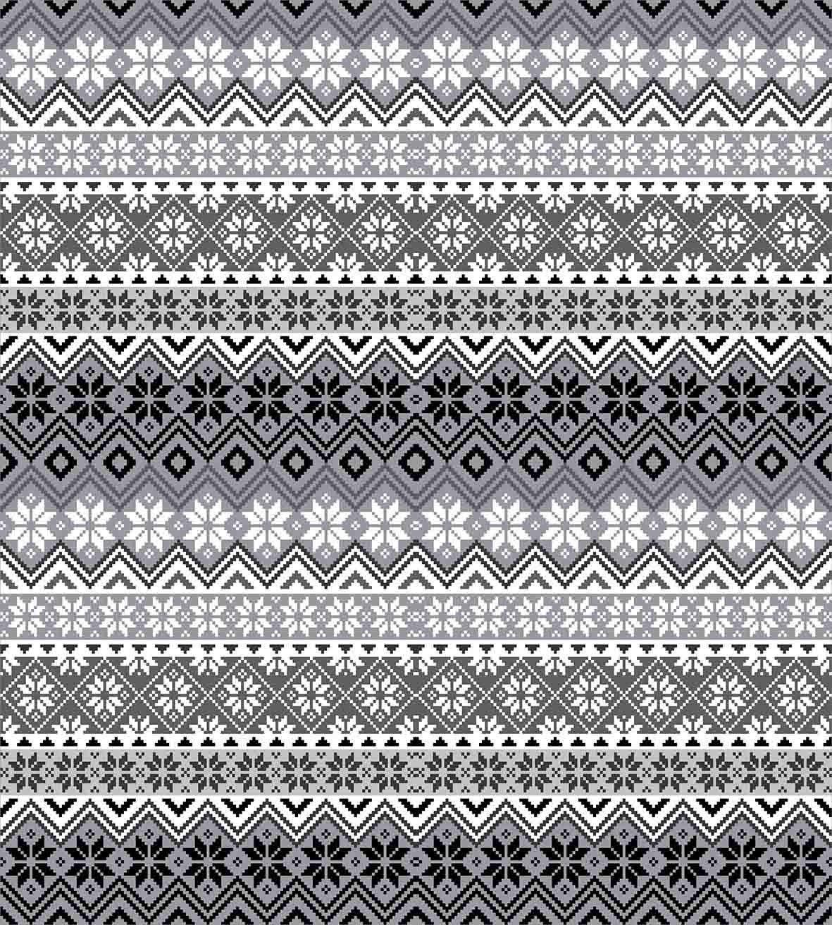Nordic Snowflake Pattern Scandinavian Style Traditional and Modern Print Home Decor All Season Duvet Cover Bed Set Gray White Black Grey 4 Pcs Bedding Set Twin Size