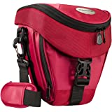 Mantona Colt SLR camera bag (universal bag incl. quick access, dust protector, carry strap and accessory compartment) red