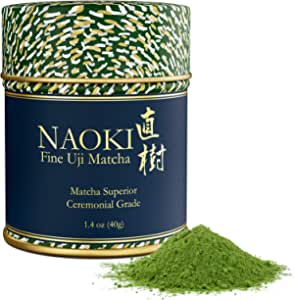 Naoki Matcha (Superior Ceremonial Blend, 40G / 1.4Oz ) - Authentic Japanese Matcha Green Tea Powder Ceremonial Grade From Uji, Kyoto