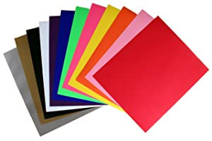 Rozzy Crafts Rozzy Crafts 12 Color Variety Iron-On Heat Transfer Vinyl (HTV) Starter Bundle, Each One 12'' x 10'' PU, HTV Pack for Cricut and Silhouette