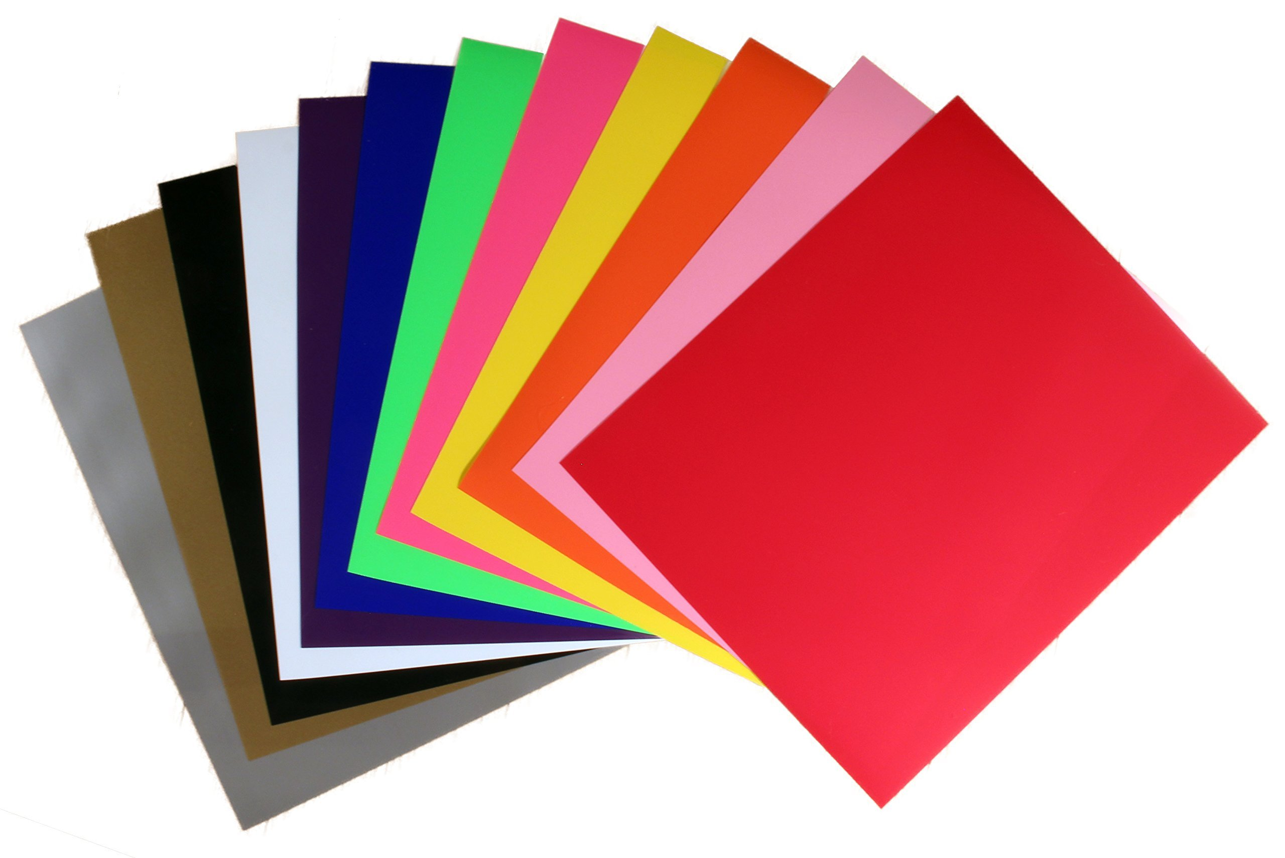 Rozzy Crafts 12 Color Iron-On Heat Transfer Vinyl (HTV) Starter Bundle,