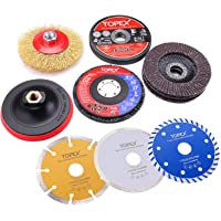 20PCs 115mm Cutting Wheel Flap Grinding Disc Wire Brush Diamond Turo Blades Kit