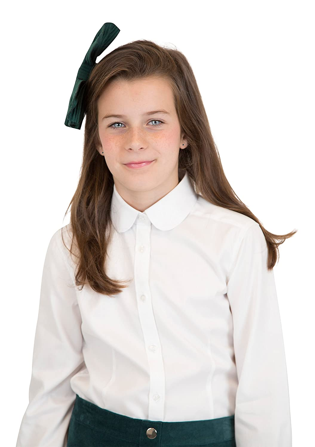 Blooks Womens Peter Pan Collar Long Sleeve Pinpoint Oxford Button
