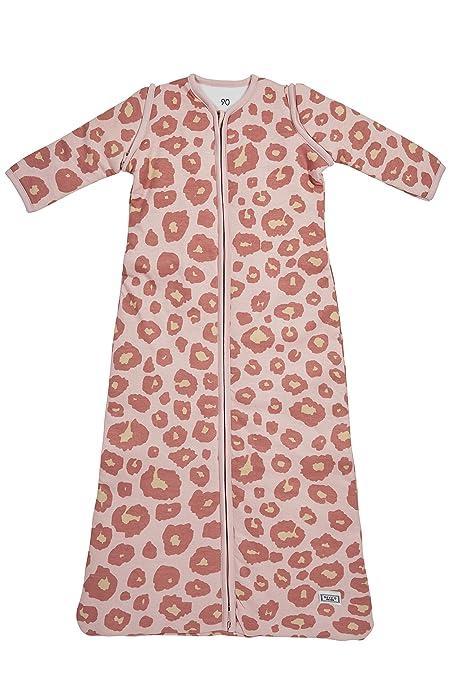 Meyco 514054 Saco de dormir de invierno 90 cm, pantera, color rosa