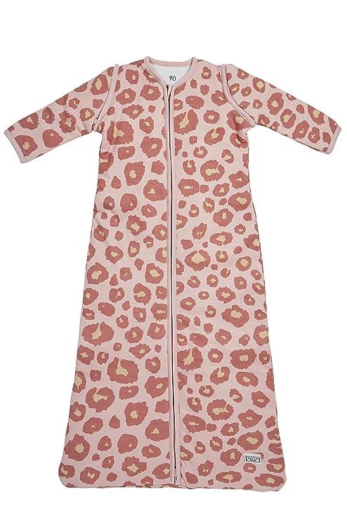Meyco 513054 Saco de dormir de invierno 70 cm, pantera, color rosa