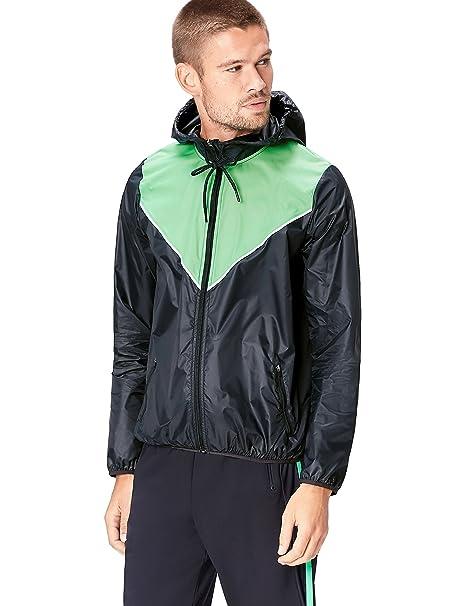 giacca a vento con cappuccio uomo