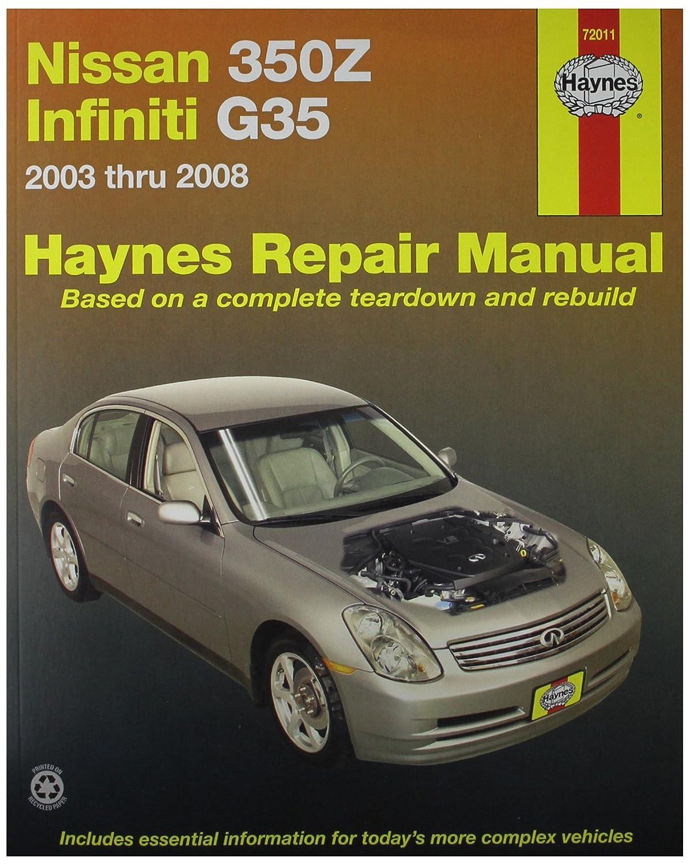 Haynes Automotive Repair Manual for Nissan 350Z and Infiniti G35, â€03 thru  â€08 (72011), Diagnostic & Test Tools - Amazon Canada