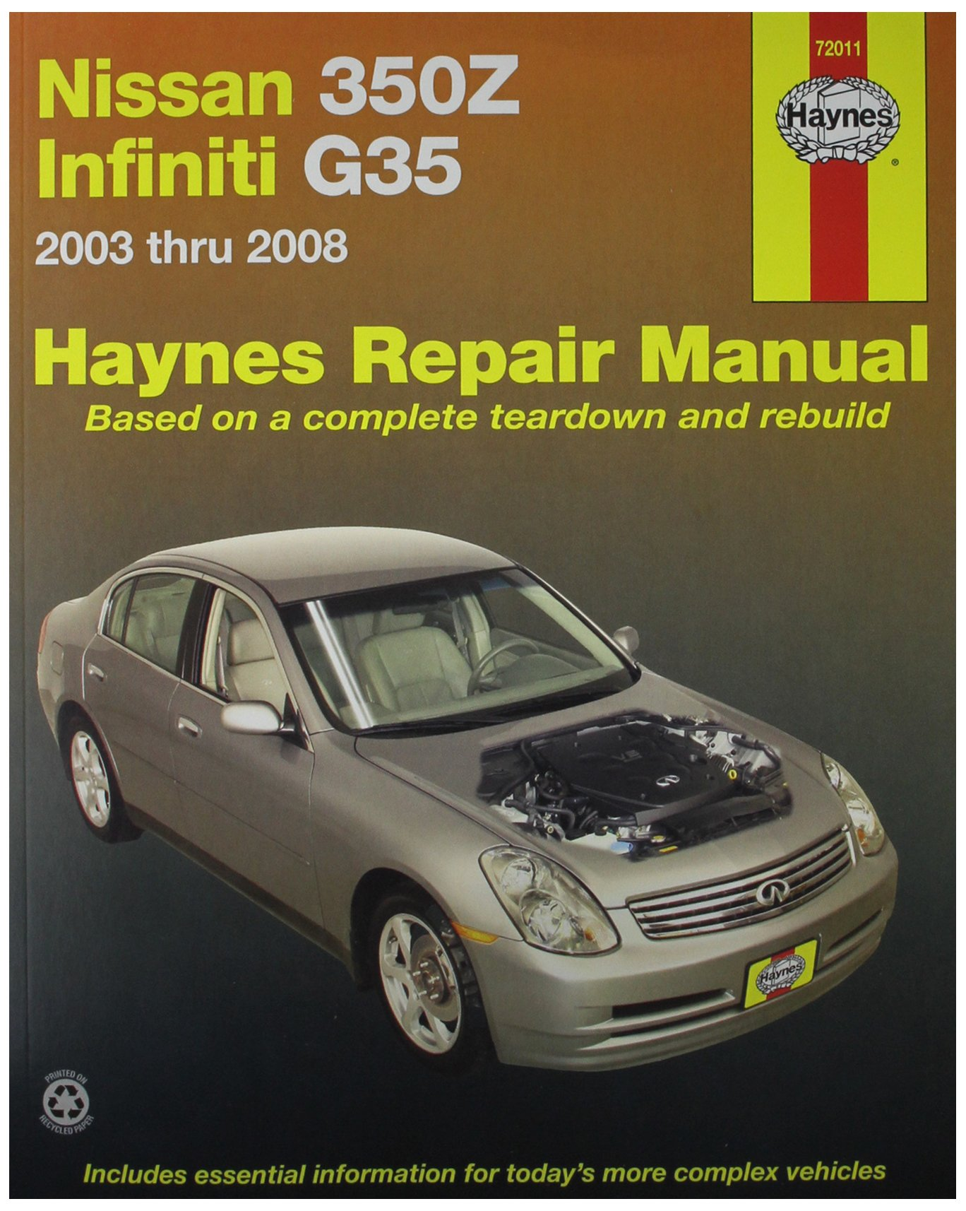 Haynes Automotive Repair Manual for Nissan 350Z and Infiniti G35, '03 thru  '08 (72011): 0038345720116: Amazon.com: Books