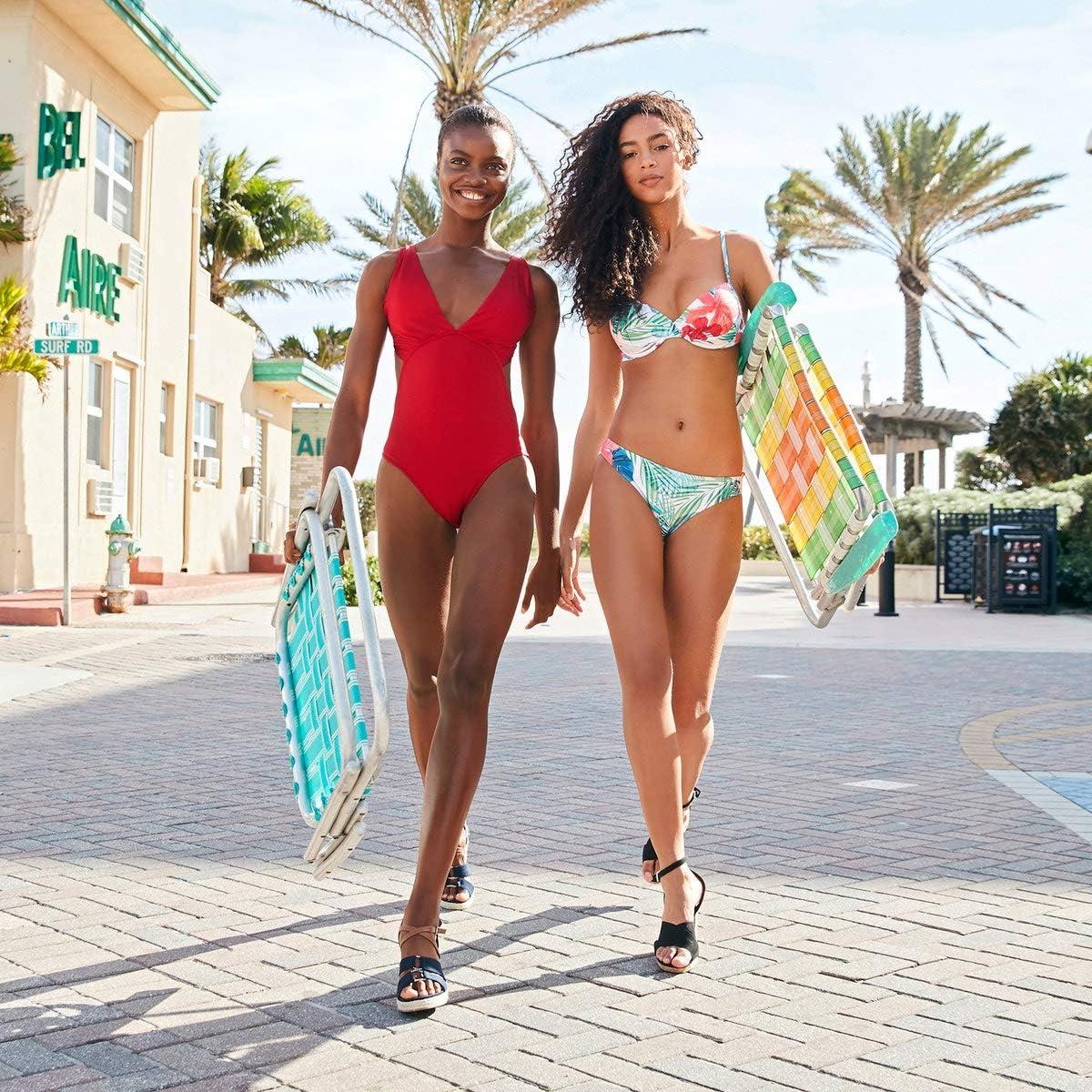 La Redoute Collection Womens Plain Cut Out Trikini Plunge Swimsuit