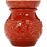 "Hosley 6"" High Red Ceramic Electric Candle Warmer. Ideal Wedding, spa and Aromatherapy. Use with HOSLEY Brand Wax Melts…"