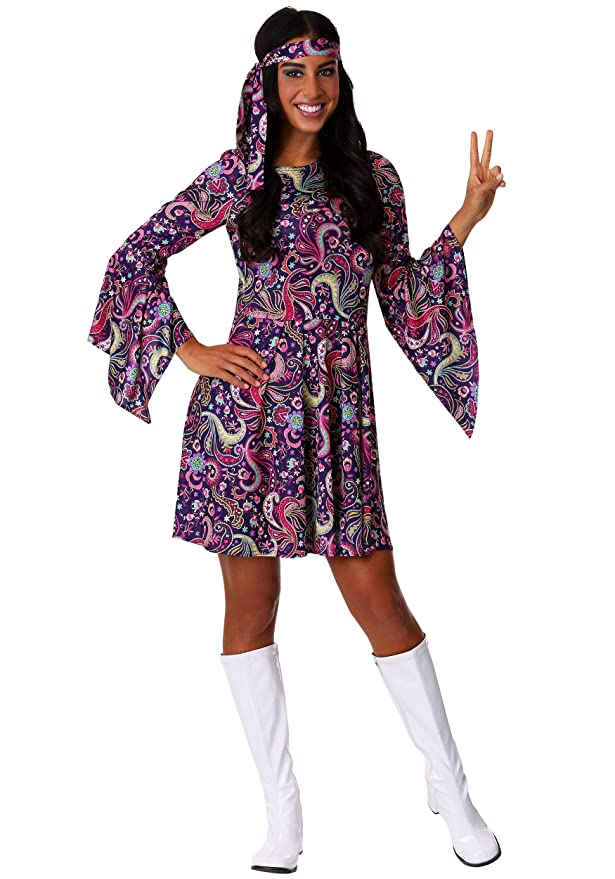 60s Costumes: Hippie, Go Go Dancer, Flower Child, Mod Style Womens Woodstock Hippie Costume $39.99 AT vintagedancer.com