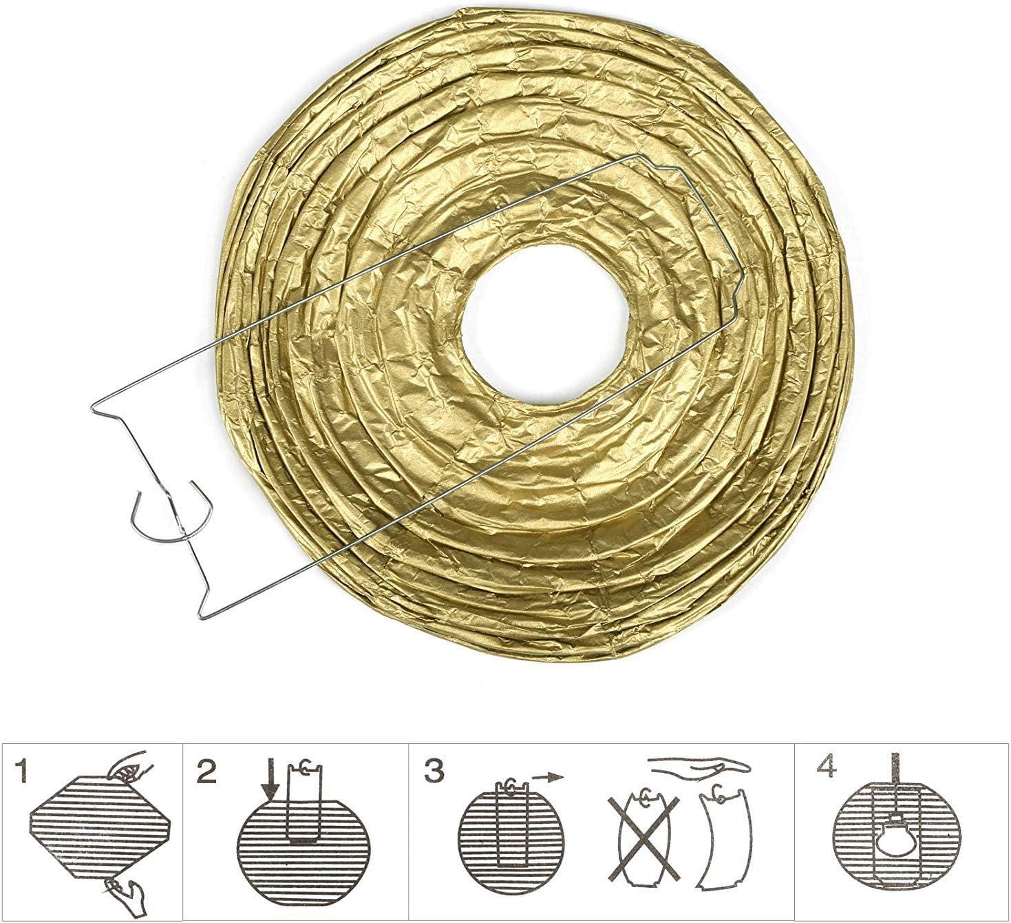 Misstomato Chinois Lanterne Ronde Papier D/écorations /à Suspendre Anniversaire Lampion Papier Boule pour D/écoration Mariage Maison,10 Pcs,10 inch