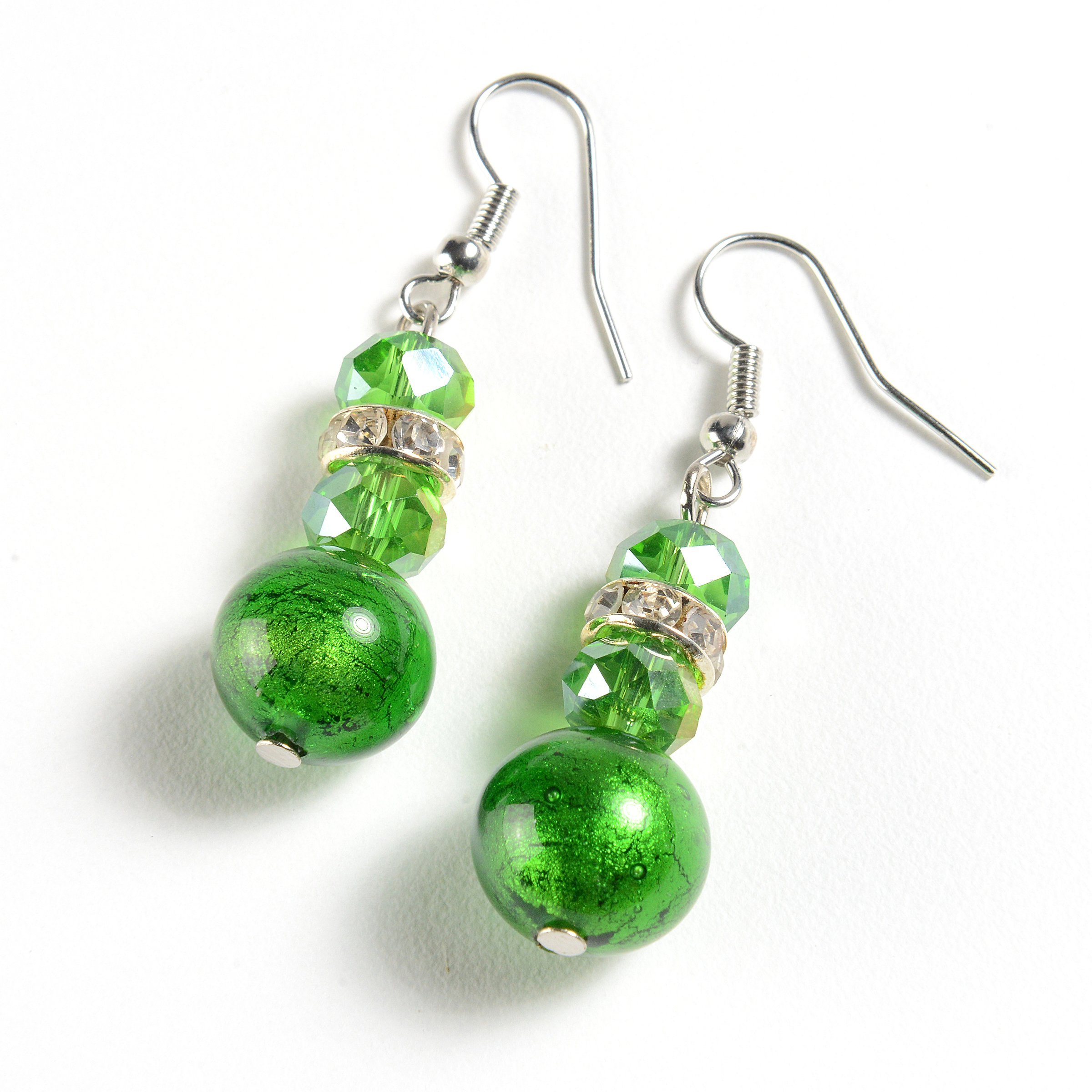 EMBRACE LA GRANDE VITA Murano Glass Earrings from Italy–Earring Set, Jewelry Made w/Murano Glass Beads