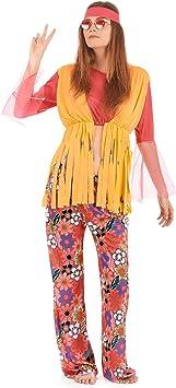 Disfraz de hippie para mujer: Amazon.es: Juguetes y juegos