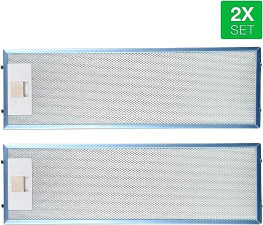 AEG 405534414/9 4055344149 - Filtros de grasa metálicos para campana extractora (2 unidades, 512 x 160 mm): Amazon.es: Hogar