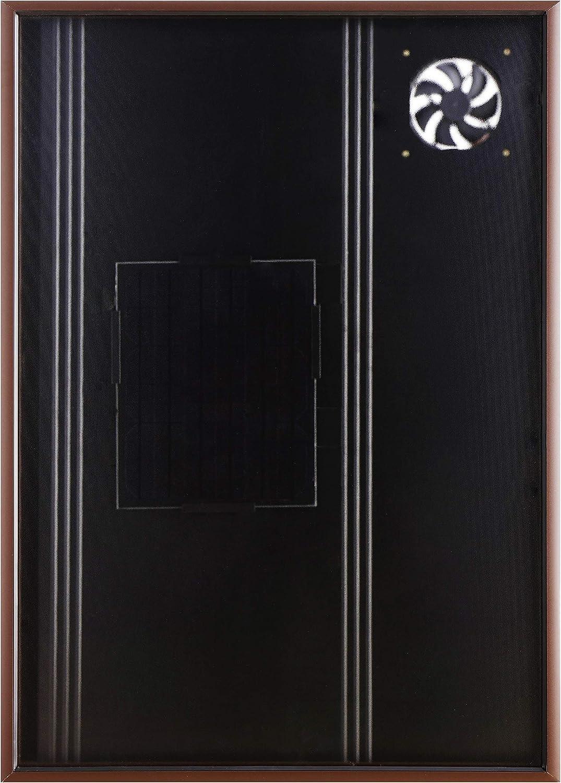 Calentador solar de aire Nakoair Colector OS22 (Marrón) 550W Acondicionador Ventilador de extracción Secador Panel de calefacción de espacios Deshumidificador Bomba de calor Agua de ventilación