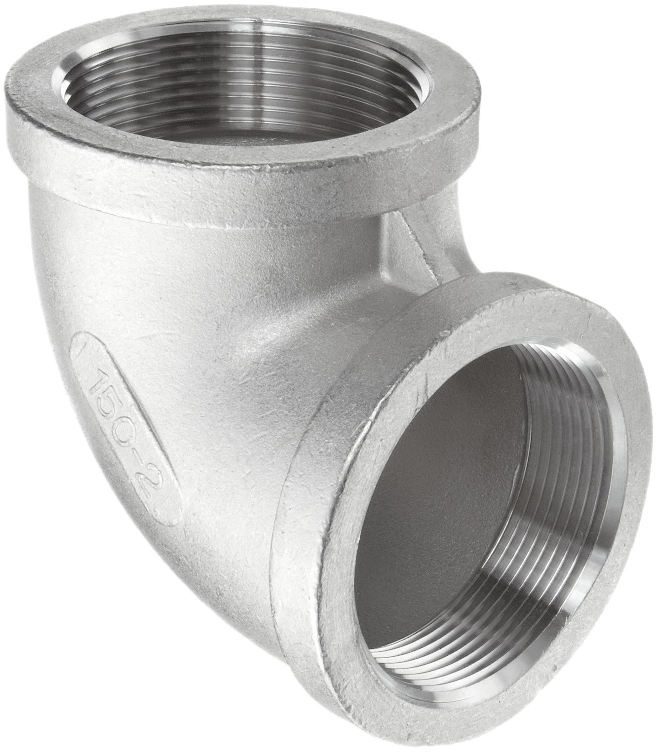 Stainless Steel 304 Cast Pipe Fitting, 90 Degree Elbow, MSS SP-114, 4'' NPT Female