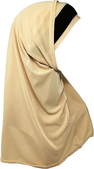 Scarf + Bonnet Headscarf Hijab Amira Read Made Pull on Scarf ideal for School//Madrassa//Eid//Ramadan//Mosque//Masjid//Everyday Girls Hijab Two Piece
