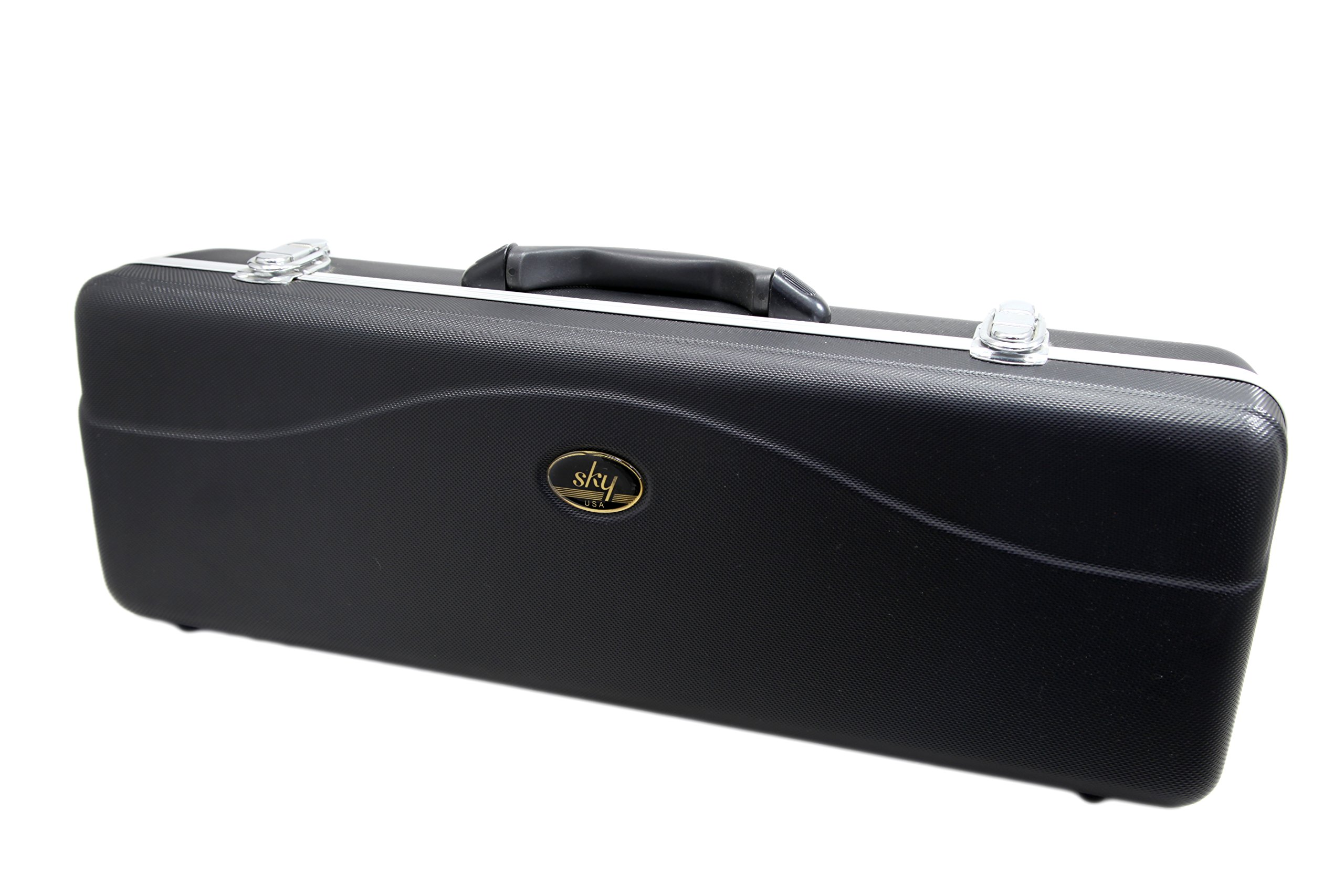 SKY Lightweight ABS Case for Soprano Saxophone, Black