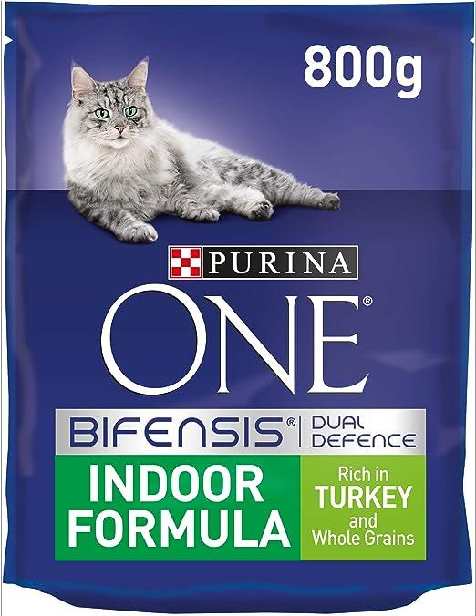 Purina ONE - Comida Seca para Gatos (800 g, 4 Unidades, 3,2 kg ...