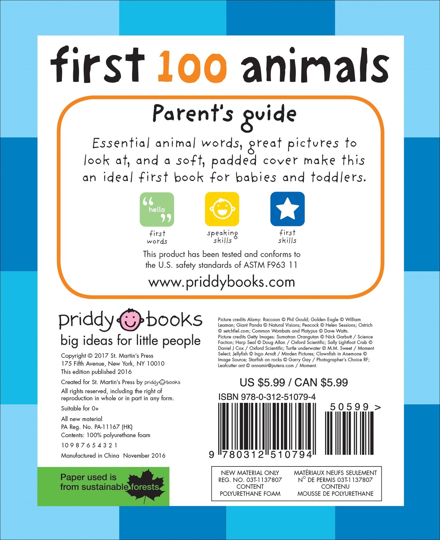 com first 100 animals 9780312510794 roger priddy books