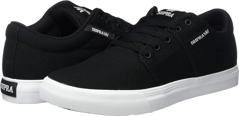 Black Canvas Sneaker 4 Big Kid M Supra Kids Boys Stacks Vulc II Little Kid//Big Kid