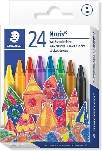 STAEDTLER 220NC24 - Caja con 24 Lápices Plásticos y de Cera: Amazon.es: Oficina y papelería