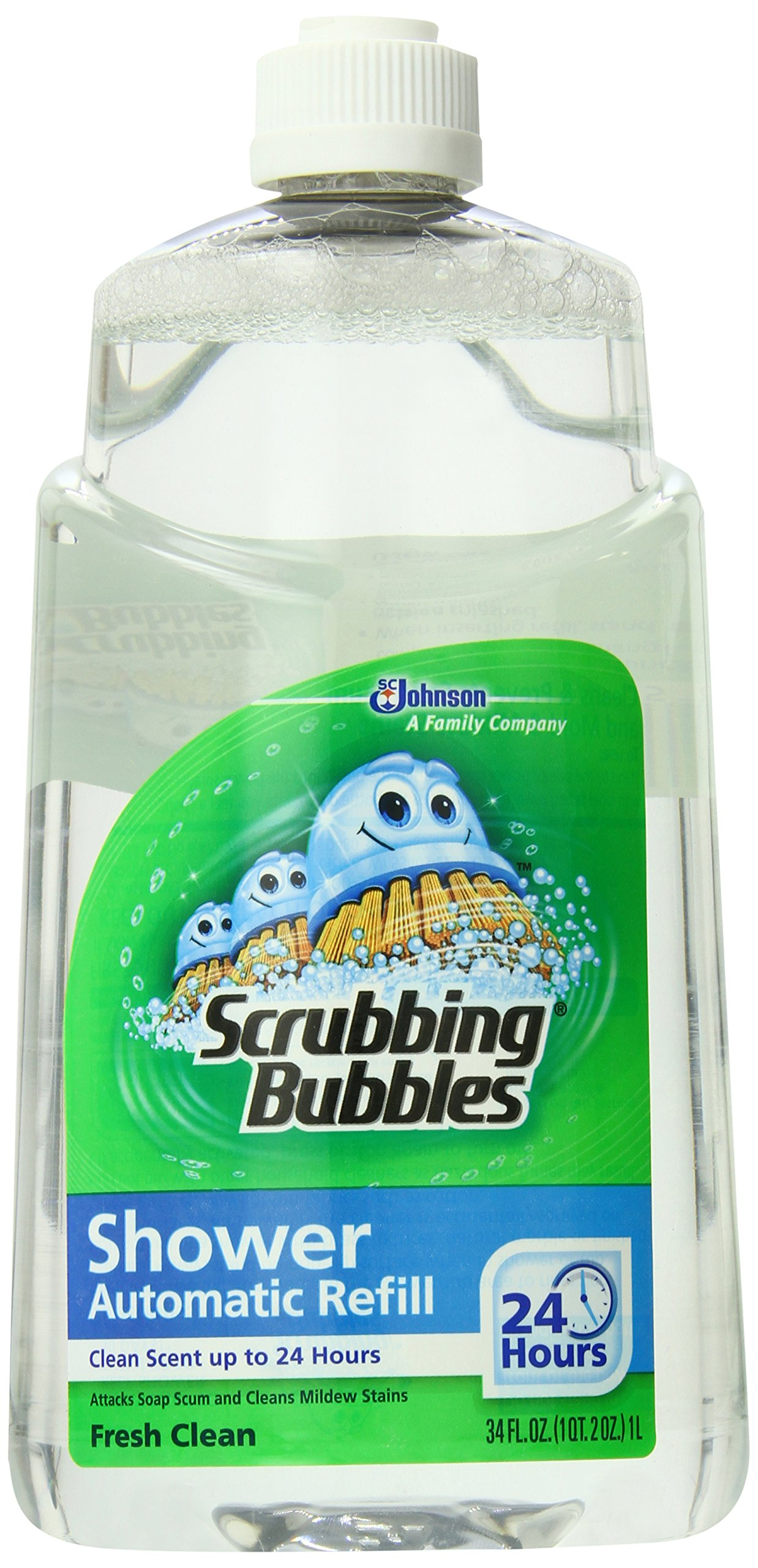 Scrubbing Bubbles Auto Shower Cleaner, Fresh Scent Refills (Pack of 6)