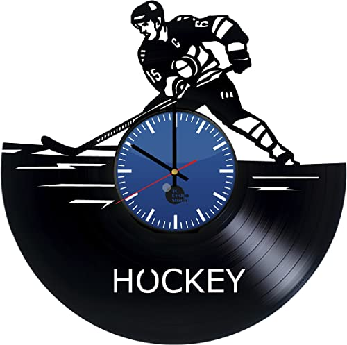 Ice Hockey Vinyl Record Wall Clock – Get Unique Bedroom Wall Decor – Gift Ideas for Men, Women and Boys – Unique Movie Art Design – Leave us a Feedback and Win Your Custom Clock