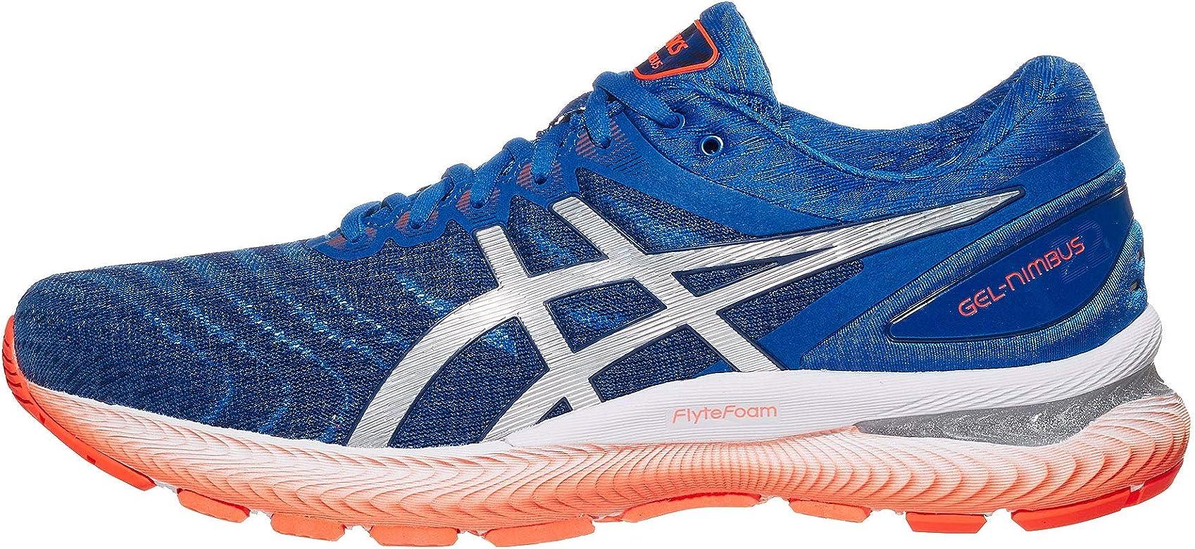 ASICS Gel-Nimbus 22 - Zapatillas de correr para hombre, Azul (Azul atún/plata pura.), 45 EU: Amazon.es: Zapatos y complementos