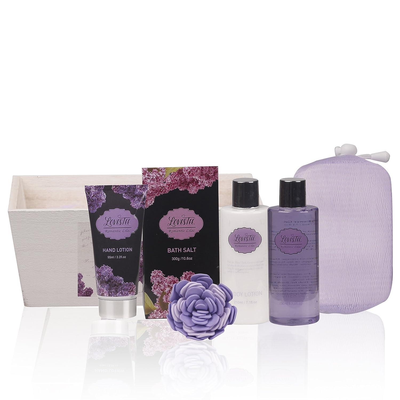 Amazon.com: Spa Gift Basket, Spa Basket with Lavender Fragrance ...