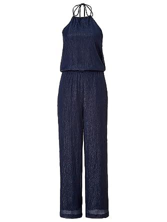 ee530b68123eee REKEN MAAR Damen Overall mit Neckholder: Amazon.de: Bekleidung