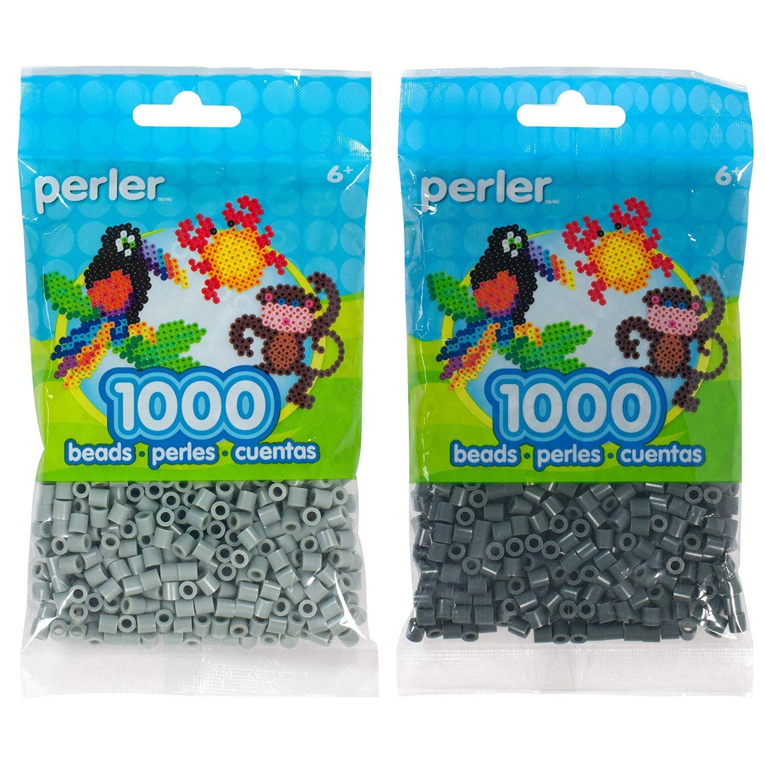 Canutillos beads 2000 unidades (pack x2) Pewter/Charcoal